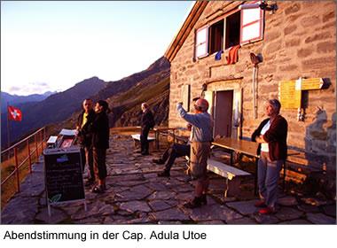 Abendstimmung in der Cap. Adula Utoe