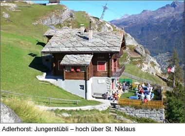 Adlerhorst: Jungerstübli – hoch über St. Niklaus