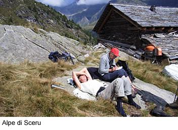 Ausruhen und Entspannen in der Natur: Alpe di Sceru