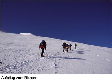 Aufstieg zum Bishorn