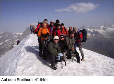 Auf dem Breithorn, 4164m