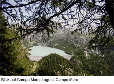 Blick auf Campo Moro: Lago di Campo Moro