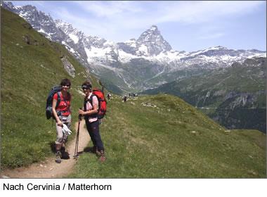 Nach Cervinia - Matterhorn