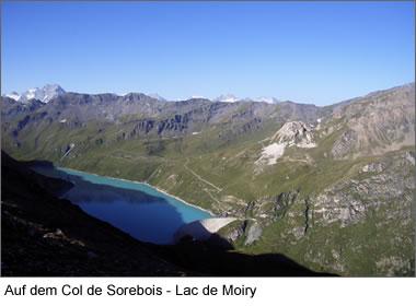 Auf dem Col de Sorebois - Lac de Moiry