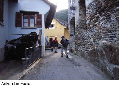 Ankunft in Fusio