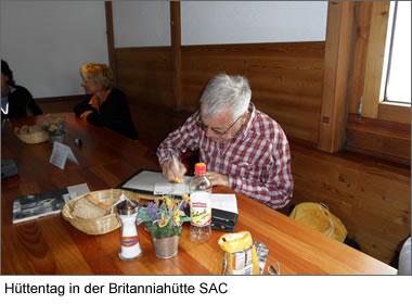 Hüttentag in der Britanniahütte SAC