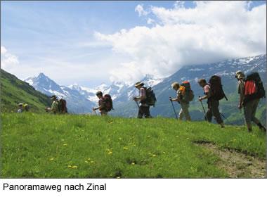 Panoramaweg nach Zinal