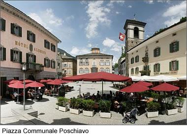 Piazza Communale Poschiavo