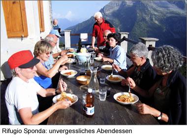Rifugio Sponda: unvergessliches Abendessen