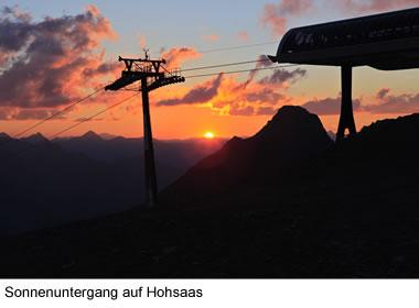 Sonnenuntergang auf Hohsaas