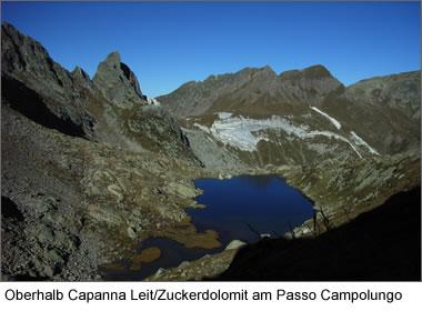 Oberhalb Capanna Leit/Zuckerdolomit am Passo Campolungo